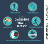 diagnosing heart disease vector ... | Shutterstock .eps vector #582404014