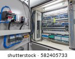 electrical switch panel of... | Shutterstock . vector #582405733