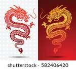 illustration of traditional... | Shutterstock .eps vector #582406420
