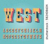 serif bold vintage poster font. ... | Shutterstock .eps vector #582408604