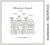 attractions ireland. city.... | Shutterstock .eps vector #582409210