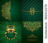 set of luxury ornate... | Shutterstock .eps vector #582412270