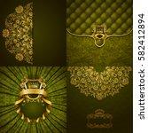 set of luxury ornate... | Shutterstock .eps vector #582412894