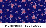 seamless pattern of violet.... | Shutterstock .eps vector #582413980