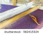 thai mini weaving equipment | Shutterstock . vector #582415324