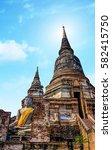 old pagoda at thailand | Shutterstock . vector #582415750