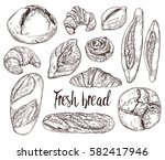 vintage hand drawn sketch style ...   Shutterstock .eps vector #582417946