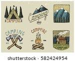 set of engraved vintage  hand...   Shutterstock .eps vector #582424954