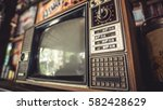 antique grunge portable black... | Shutterstock . vector #582428629