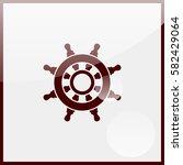 ship steering wheel. | Shutterstock .eps vector #582429064