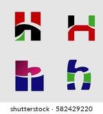 letter h logo set  | Shutterstock .eps vector #582429220