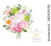 beautiful vector bouquet with... | Shutterstock .eps vector #582429250