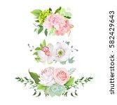 stylish mix of horizontal... | Shutterstock .eps vector #582429643