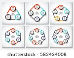 vector circle infographic.... | Shutterstock .eps vector #582434008