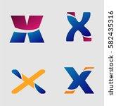 letter x logo  | Shutterstock .eps vector #582435316