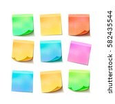 set of different colorful... | Shutterstock .eps vector #582435544