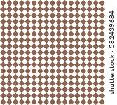 brown rhombus. white squares.... | Shutterstock .eps vector #582439684