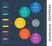 business presentation concept... | Shutterstock .eps vector #582440164