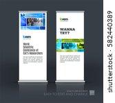 abstract business vector set of ... | Shutterstock .eps vector #582440389