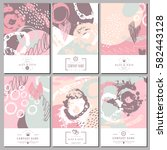 set of creative business card... | Shutterstock .eps vector #582443128
