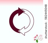 arrow indicates the direction ... | Shutterstock .eps vector #582445048