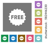 free sticker flat icons on... | Shutterstock .eps vector #582446230