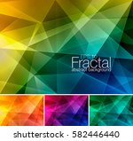 fractal abstract background.... | Shutterstock .eps vector #582446440