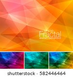 fractal abstract background.... | Shutterstock .eps vector #582446464