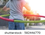 adorable asian child girl... | Shutterstock . vector #582446770