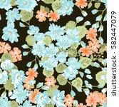 elegant gentle trendy pattern... | Shutterstock .eps vector #582447079