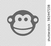 monkey vector icon on... | Shutterstock .eps vector #582447238