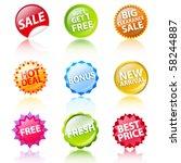 sale labels | Shutterstock .eps vector #58244887