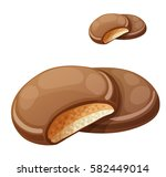 chocolaty coating covered... | Shutterstock .eps vector #582449014