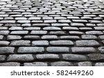 Dark Shiny Cobble Road  Stone...