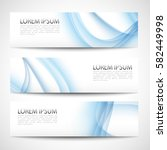 abstract header blue wave white ... | Shutterstock .eps vector #582449998