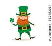saint patrick's day. funny... | Shutterstock .eps vector #582453094