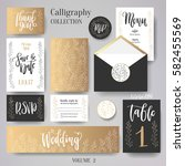 wedding cards collection. set... | Shutterstock .eps vector #582455569