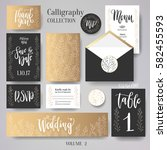wedding cards collection. set... | Shutterstock .eps vector #582455593