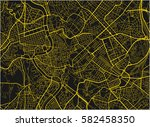 black and yellow vector city... | Shutterstock .eps vector #582458350