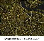 black and yellow vector city... | Shutterstock .eps vector #582458614