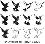 set of hummingbirds for your... | Shutterstock .eps vector #582461338