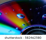 Water Drop On Cd With Spectrum