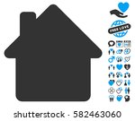 house icon with bonus dating... | Shutterstock .eps vector #582463060