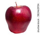Single Fresh Juicy Red Apple...