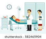 medicine concept with doctor... | Shutterstock .eps vector #582465904