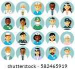 medicine set with doctors and...   Shutterstock .eps vector #582465919