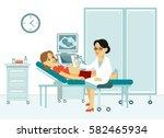medicine concept ultrasound... | Shutterstock .eps vector #582465934