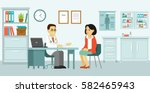 medicine concept with doctor... | Shutterstock .eps vector #582465943