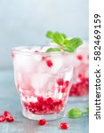 infused pomegranate water with... | Shutterstock . vector #582469159