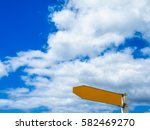 street sign for direction... | Shutterstock . vector #582469270